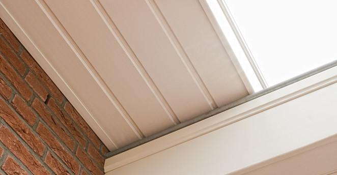 Keralit Dachrandpaneel Detailansicht