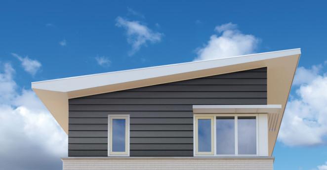 Keralit Fassade Stülpschalung grau