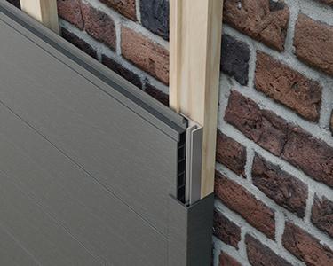 Abdeckung der Holzunterkonstruktion bei freistehenden Fassadenverkleidungen
